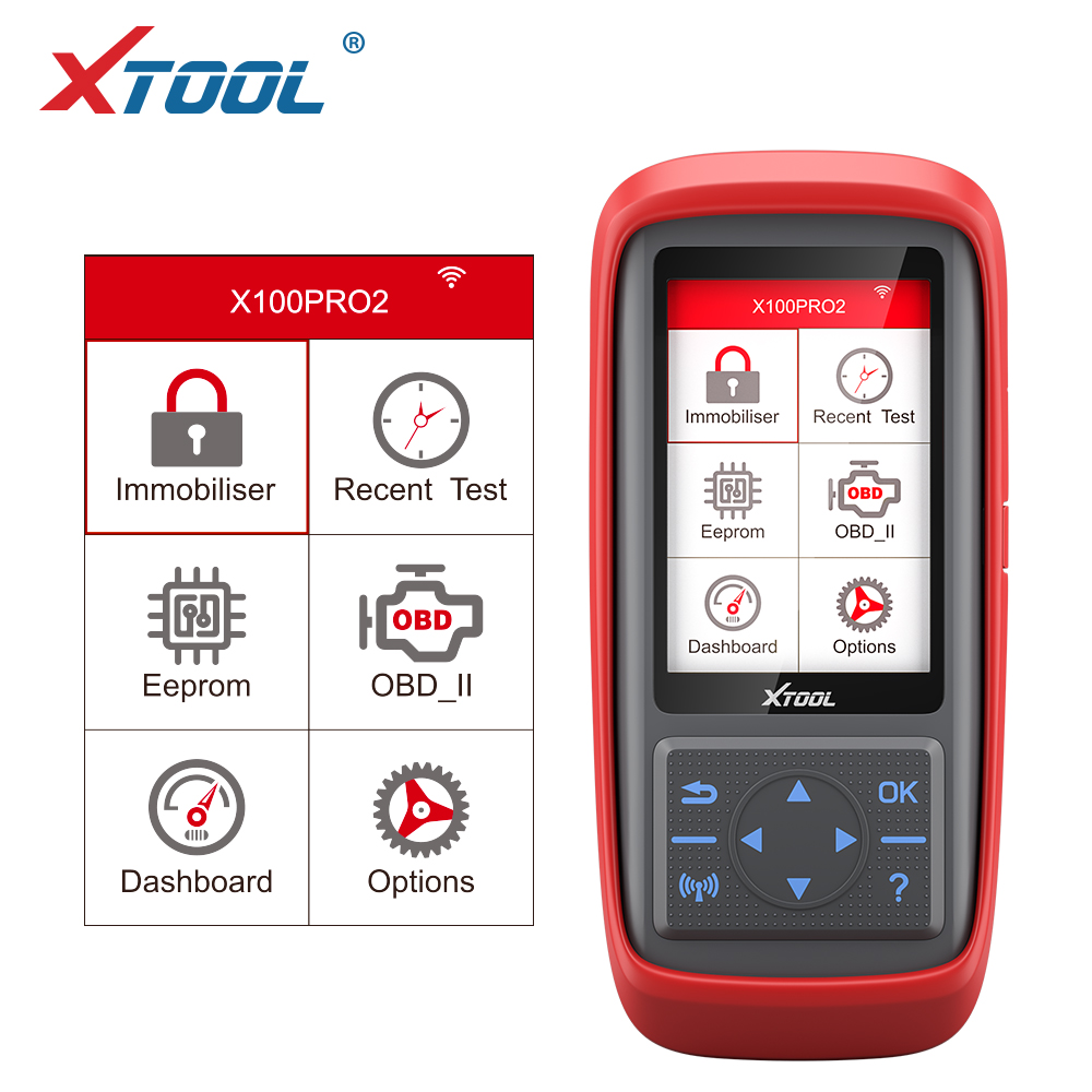 XTOOL 2019 X100 PRO2 Auto Key Programmer OBD2 Scanner Car Diagnostic Odometer Adjustment Code Reader EEPROM Adapter Free Update