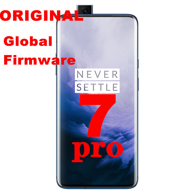 """New Global ROM Oneplus 7 Pro Smart phone 30W Charger 4000mAh NFC 6.67"""" Snapdragon 855 AMOLED Screen 48MP 12G RAM 256G ROM