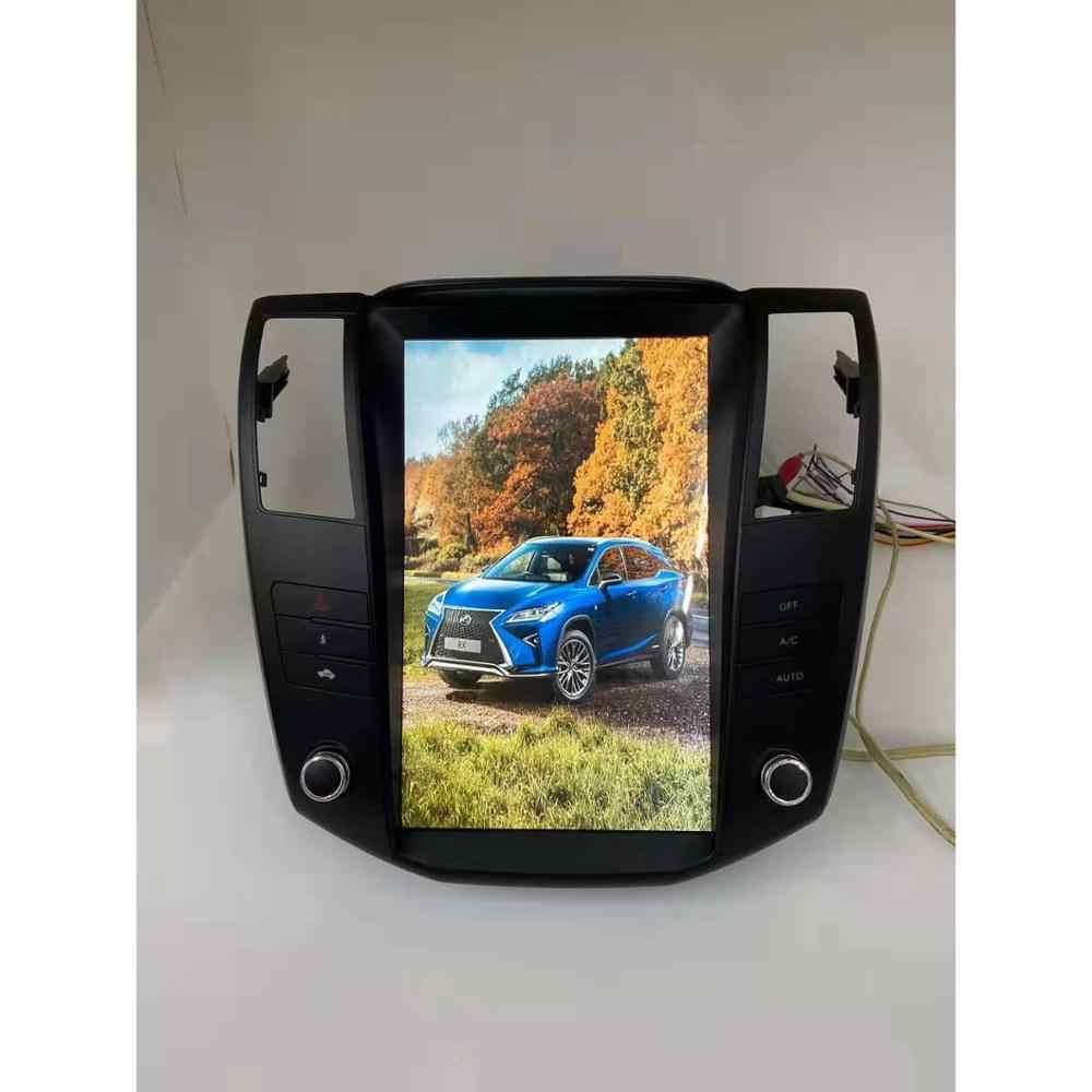 12.1 cal pionowy ekran samochodowy odtwarzacz multimedialny czterordzeniowy Android 6.0 radio samochodowe nawigacja dla Lexus RX300/RX330/RX350 2004-2007