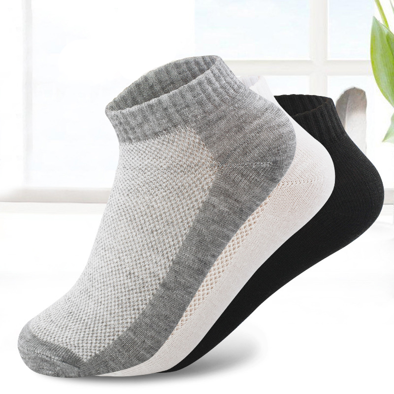 20Pcs=10Pair Breathable Men's Socks Short Ankle Socks Men Solid Mesh High Quality Male Boat Socks HOT SALE 2019 Hot(China)