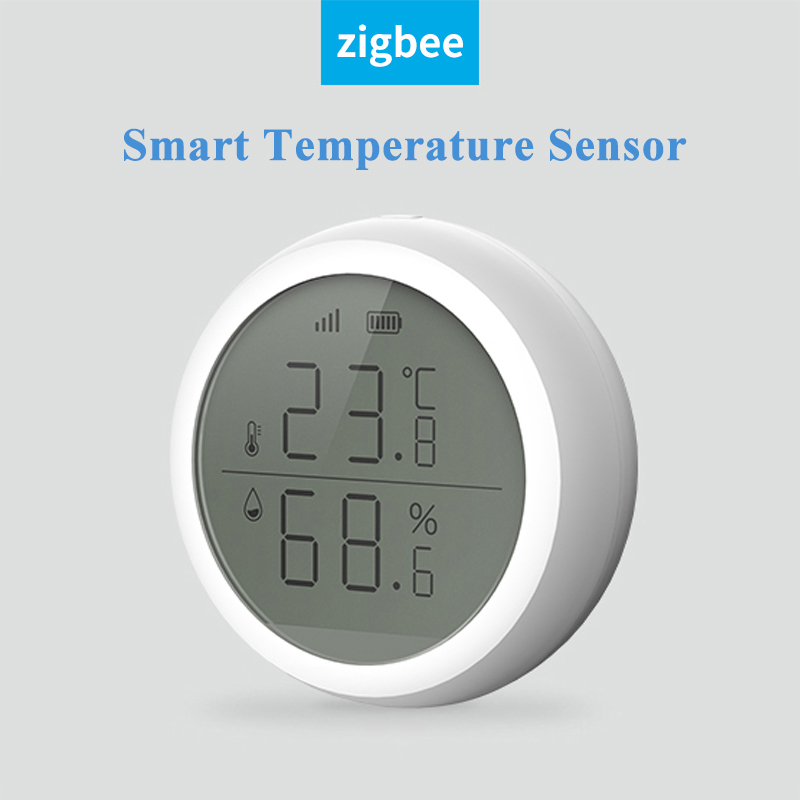2020 New ZigBee Temperature Humidity Sensor Security Smart Home Building Automation LCD Screen Display For TuYa Smart Life APP
