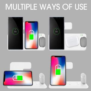 Image 5 - 15W Wireless Chargerขาตั้ง4ใน1แท่นชาร์จสำหรับAirpods Pro Apple 6 SE 5 5 5 5 5 5 3 2 QiสำหรับiPhone 11 XS XR X 8
