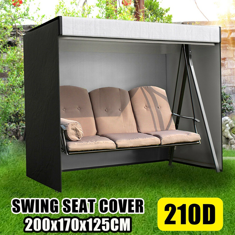 Garden Swing Cover 3-Seater Swing Hammock Cover Outdoor Garden Patio Protector Sun Shade Waterproof Chair Cover