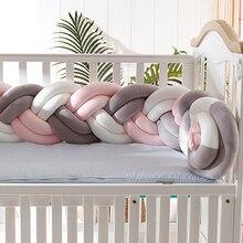 Модные детские подушки бамперы ткацкие мягкие бортики для кровати Детская безопасность защита для новорожденных детская комната 150 см YYJ001