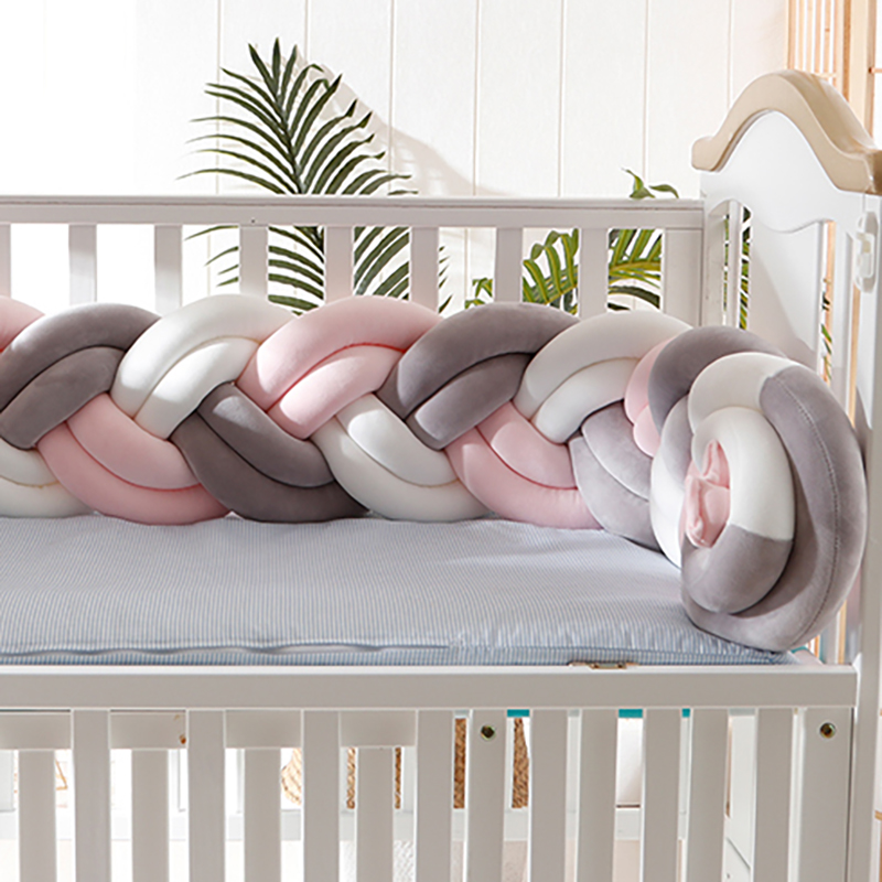 Fashion Baby Cushion Bumpers Weaving Bed Bumpers  Safety Protection For Newborn  Baby CushionsCrib Nursery Room 150cm YYJ001