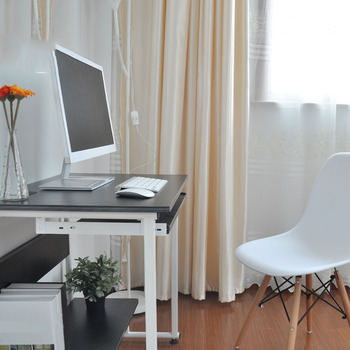 Household Desktop Computer Desk SD-7 Simple Modern All-in-one  Laptop Table Multipurpose Writing Table White/Black
