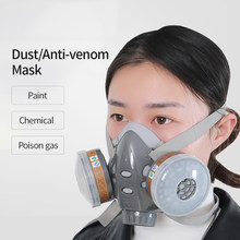 5 in 1 Dust Mask/Anti-venom Mask Paint Spraying Decoration Respirator Tools Chemical Pesticides Filter Tool Protective Mask(China)