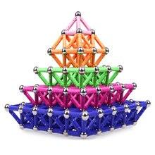 Магнитные шарики и палочки 3D модель и строительные игрушки Магнитные дизайнерские блоки магнитные строительные игрушки для детей Подарки