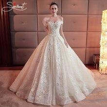 SERMENT Luxury Wedding Master Daughter Shoulders Hand-embroidered Rose Pattern Design Pregnant Women Fat Dress
