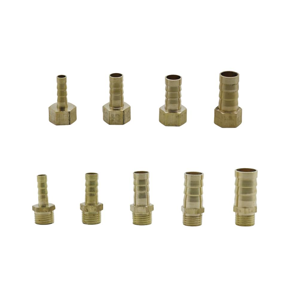 "Brass Hose Fitting 6mm 8mm 10mm 12mm 14mm Barbed Tail 1/4"" Male Female Thread Brass Connector Joint Coupler Adapter Pipe Fitting"