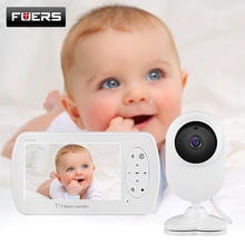 FUERS Video Baby Monitor 4.3 inch Wireless Babysitter Camera With Two-way Talk For Baby Night Vision Monitor Auto-Temperature