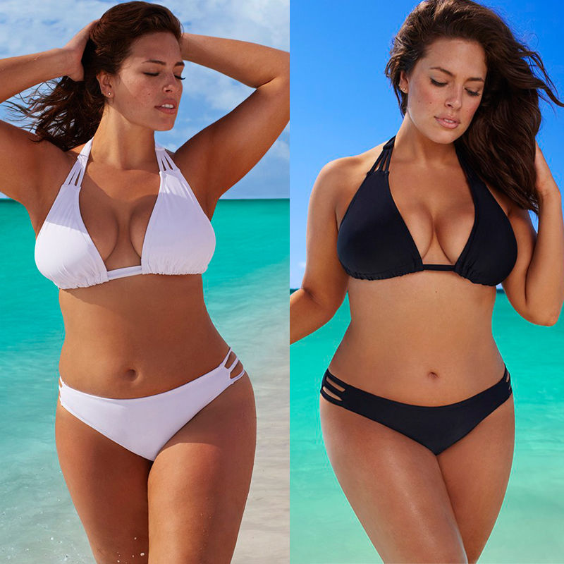 Plus Size Women Bikini Set Low Waist Push Up Big Size Swimsuit Swimwear Large Size Bikini Tocas Feminina Bathing Suits L-4XL