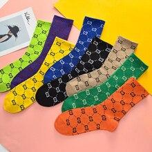 Lettering Socks Skateboard Long-Tube Harajuku Novelty Street-Sports Hot-Sale Women Casual