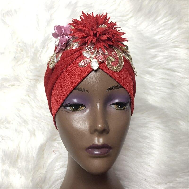 Шапочки под хиджаб Aso Oke Gele Африканский головной убор уже сделанный Gele головной убор дамская шляпа Авто головной убор aso oke gele-AC30