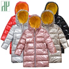 Kids parka Winter Duck down jacket Long Thick Down Jacket toddler Boys and Girls Coat Hooded Warm Face Casual Spacesuit snowsuit girls duck pattern hooded jacket
