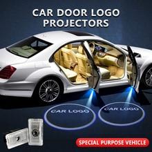 2pcs/lot For Tesla Model 3 X S Y Welcome Light Car Door Logo Projector Shadow Lamp