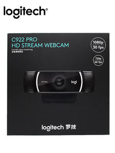 Logitech Stream Webcam Microphone Autofocus C922-Pro 1080p Original 30FPS Full-Hdcamera