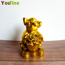 Chinese style bronze lucky copper pig ornaments cabbage money pigs indoor desktop Feng Shui decorations