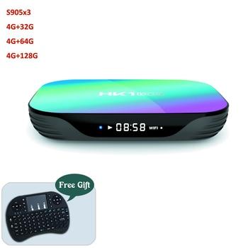 HK1  New Amlogic S905X3 Quad Core Dual Wifi Internet Player 4K 4GB Android 9.0 TV Box