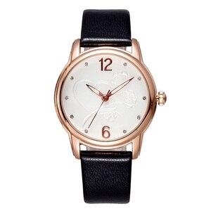 Image 2 - 2020 New Luxury BrandFashion LeisureSimpleStyleWomen WatchLeather Watchband Quartz WatchWomensGift Relogio Feminino reloj mujer