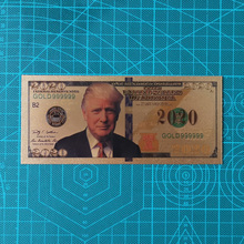 10Pcs/Lot Hot Sales USA Trump Banknotes 2020 Dollar Bills Banknote in 24K Gold Plated Paper Money For Gifts недорого