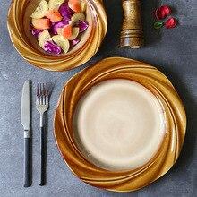 oneisall japanese style dinner plates set porcelain ceramics cake fruit vegetable salad platos dinnerware set dishes supla dish Tableware Ceramic Dinner Plate Set Dish 8/10 Inch Porcelain Cute Dessert Plate Dinnerware Straw-hat Bowl Salad Bowl Western Plat
