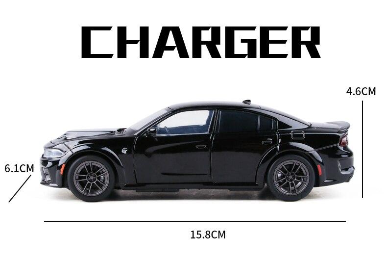 1:32 dodge charger srt hellcat liga muscular