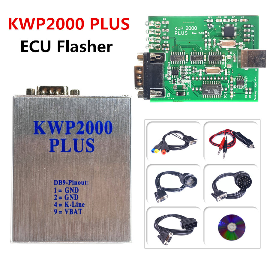 Hot Selling A+ Quality KWP2000 Plus ECU REMAP Flasher OBD2 ECU Chip Tunning Tool KWP2000