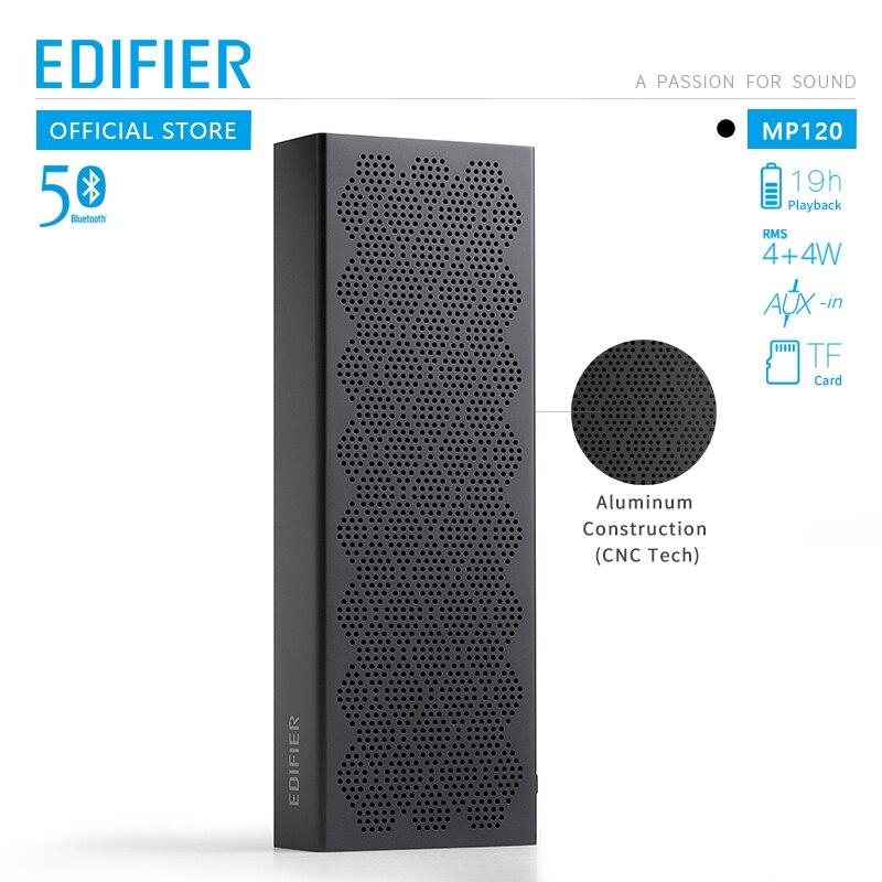 Edifier mp120 bluetooth alto-falante bluetooth 5.0 suporte tf cartão aux entrada cnc tecnologia dupla gama completa alto-falantes