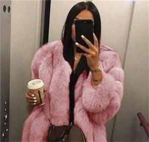 Image 4 - 2019 חדש חורף נשים ורוד מעיל בתוספת גודל 5xl אופנה מקרית Loose מוצק מלא שרוול סלעית קטיפה מעיל נשים גדול להאריך ימים יותר Parka