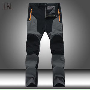 Autumn Outdoor Tactical Stretch Pants Men Waterproof Quick Dry Breathable Pants Men's Patchwork Hiking Camping Fishing Trousers