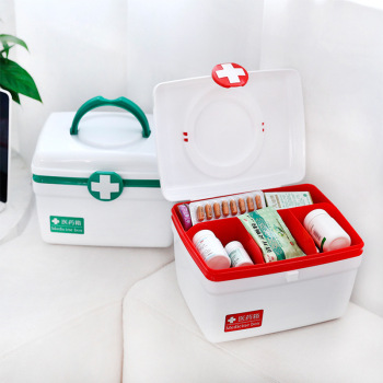 Family Medicine Kits Bin Medical First Aid Storage Box Plastic Medical Box Handle Portable Storage Medicine Gathering Case Box first aid kit storage hand organizer medicine box portable kits pp plastic drug storage box for household