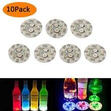 10 шт светодиодные наклейки на бутылки светящиеся горки led