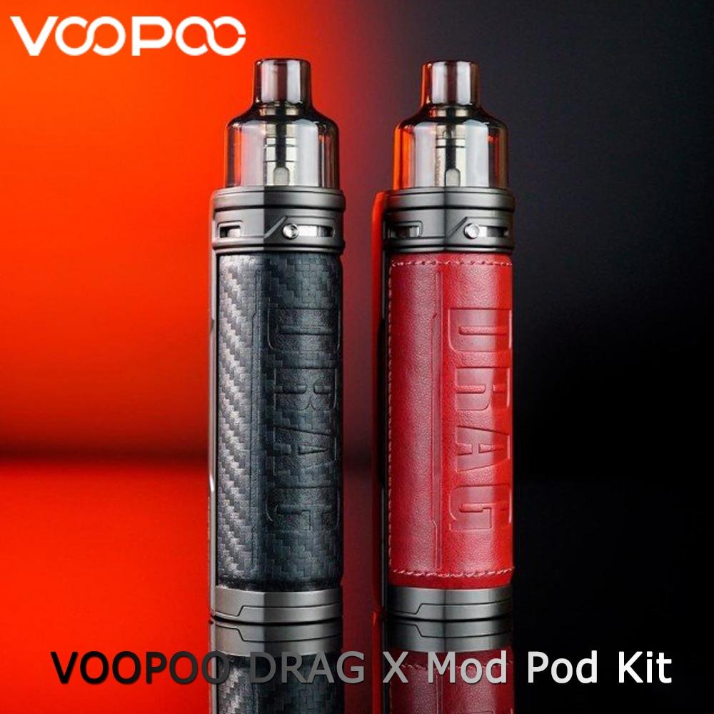 VOOPOO DRAG X Mod Pod Kit By Single 18650 Battery 4.5ml Pod GENE.TT Chip PnP-VM1 0.3ohm Coil 80W Max Output Vape Kit Vs Vinci X