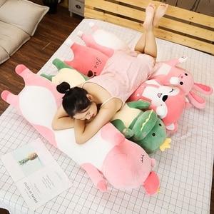 Image 3 - 1pc 70/90/120CM Cartoon Animal Dinosaur Unicorn Cat Plush Toys Stuffed Soft Long Sleeping Pillow Dolls Children Birthday Gift