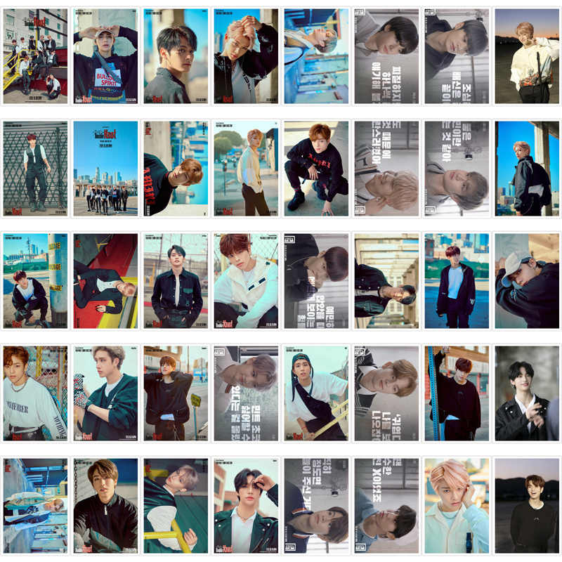 Kpop niños perdidos <doble nudo> Polaroid foto Lomo Tarjeta de moda K-POP callejero abanico para niños colección caja de Metal 40 unids/caja envío de la gota