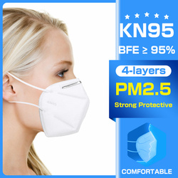 4 слоя KN95 пылезащитные маски Анти-туман дыхательные маски со ртом для лица 95% фильтрация анти-ДЫМ крышка KN95mask Ffp2mask KN95ff2 KN95filter