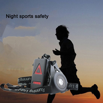 Running Lights LED Night Outdoor Camping Flashlight Warning Light USB Charge Chest Lamp Bicycle Cycling Safety Survival Tool 6