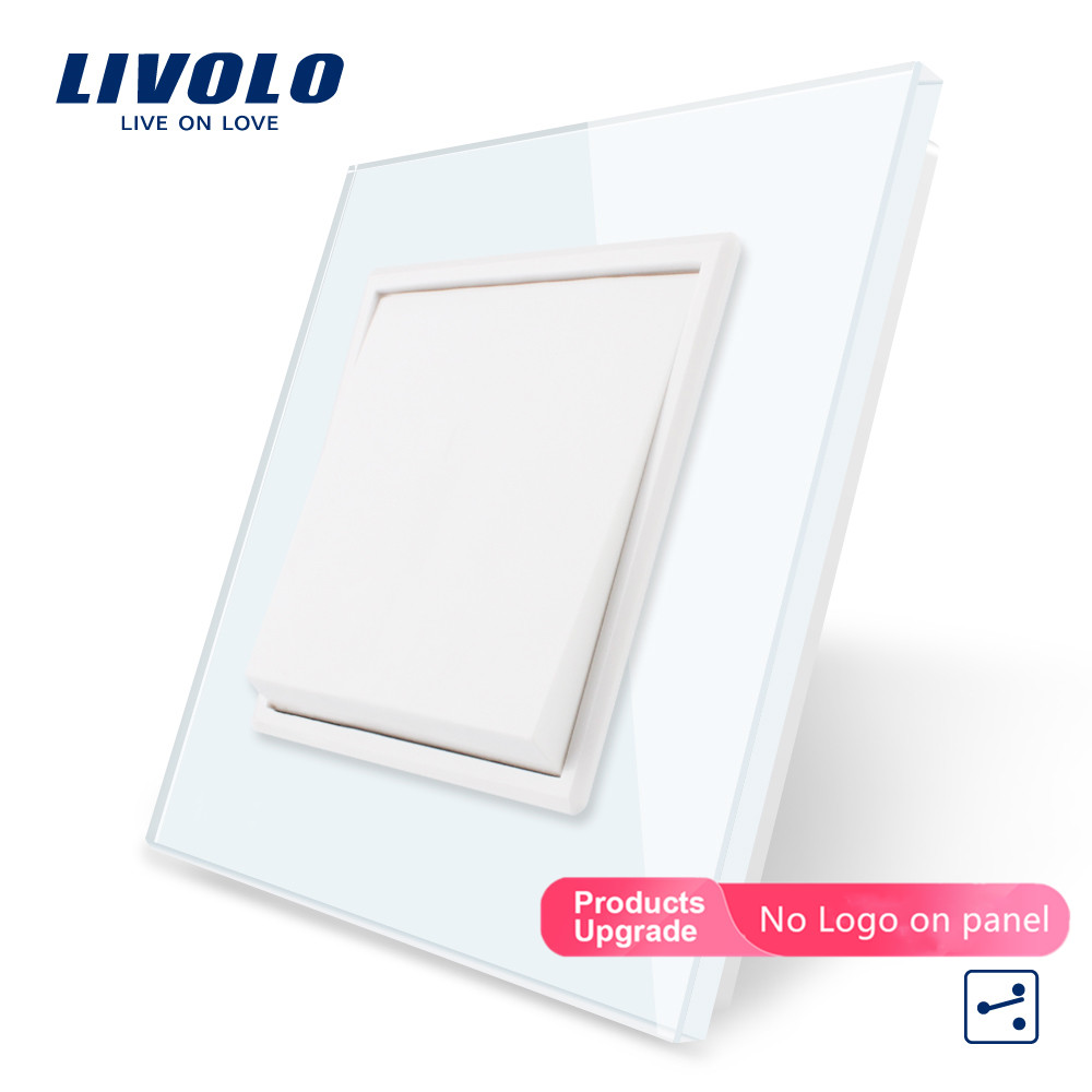 Livolo Manufacturer EU Standard Luxury Crystal Glass Panel,Push Button 2 Way Switch, Keyboard Switch ,key Pad Cross Switch