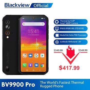 Blackview BV9900 Pro Thermal Camera Mobile Phone Helio P90 Octa Core 8GB 128GB IP68 4G Rugged Smartphone 48MP Quad Rear Camera