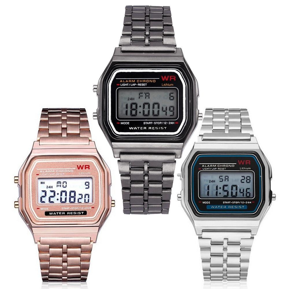 New Led Digital Waterproof Quartz Wrist Watch Dress Golden Wrist Watch Women Curren Watch CLOVER JEWELLERY