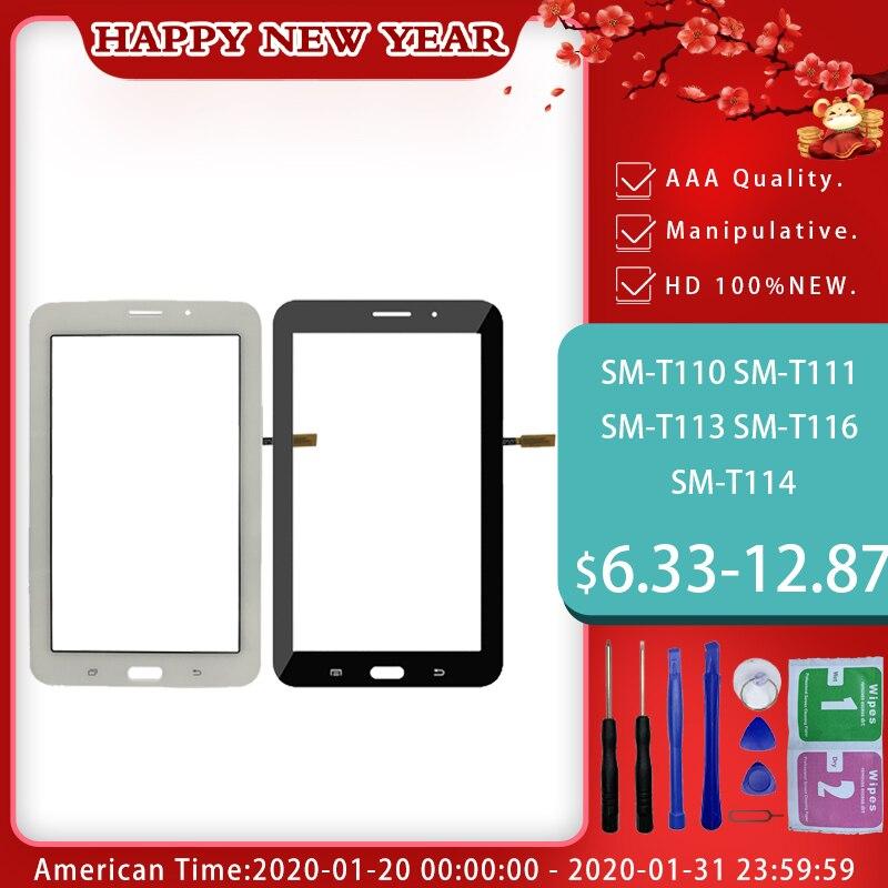 For Samsung Galaxy Tab 3 SM-T110 SM-T111 SM-T113 SM-T116 SM-T114 T110 T111 T113 T116 T114 Digitizer Sensor Glass Free Shipping