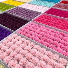 Savons à 5 couches 6cm, têtes de fleurs éternelles, Bouquet de fleurs artificielles pour la fête des mères, coffret cadeau pour la fête des mères, matériel fait à la main, 50 pièces/lot