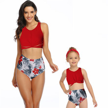Mommy and Me Clothes Bikini women Bathing Suits Beach Clothes Mother Daughter Swimwear Family Matching Outfits Look Swimsuit family swimsuits mommy and me clothes mother daughter swimwear floral bathing suits mom girls matching outfits bikini dress look