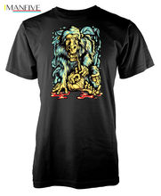 Personality Primate Monkey Monster Pattern Print Adult Mens T-Shirt MenS High Quality Custom Printed Tops Hipster Tees