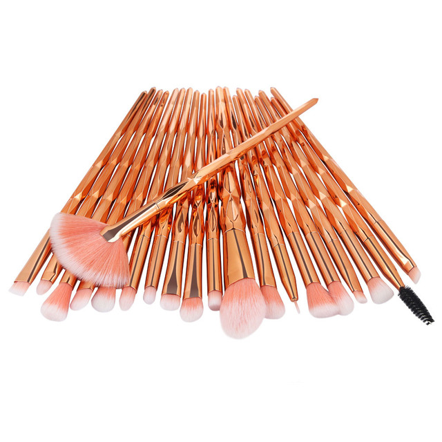 20Pcs Diamond Makeup Brushes Set Powder Foundation Blush Blending Eye shadow Lip Cosmetic Beauty Make Up Brush Pincel Maquiagem 3