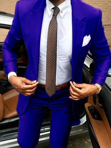 Pants Slim-Fit Business Elegant Formal-Suits And Tuxedos Bridegroom Wedding-Groomsman