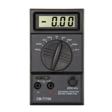 Practical Capacitor Meter Digital Multimeter CM7115A with Users Manual Test Leads