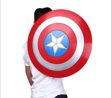 Cosplay – bouclier de Super héros Captain USA, en plastique, 57cm, 1:1, pour enfant, Costume de film, jouet, cadeau d'halloween