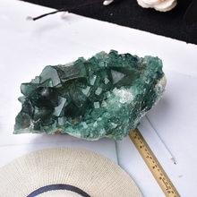 100% Piedra Natural fluorita verde Mineral espécimen de cristal Mineral piedras energía de sanación de decoración de piedra